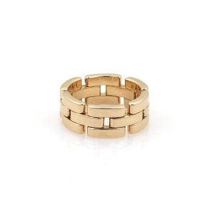 Cartier Maillon Panthere 18k Yellow Gold 8mm Band Ring Size 55-US 6.75 Cert