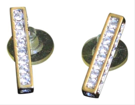 Other channel set CZ gold plated earrings