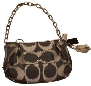 Coach Lurex Cahin Chain Poppy Shoulder Bag