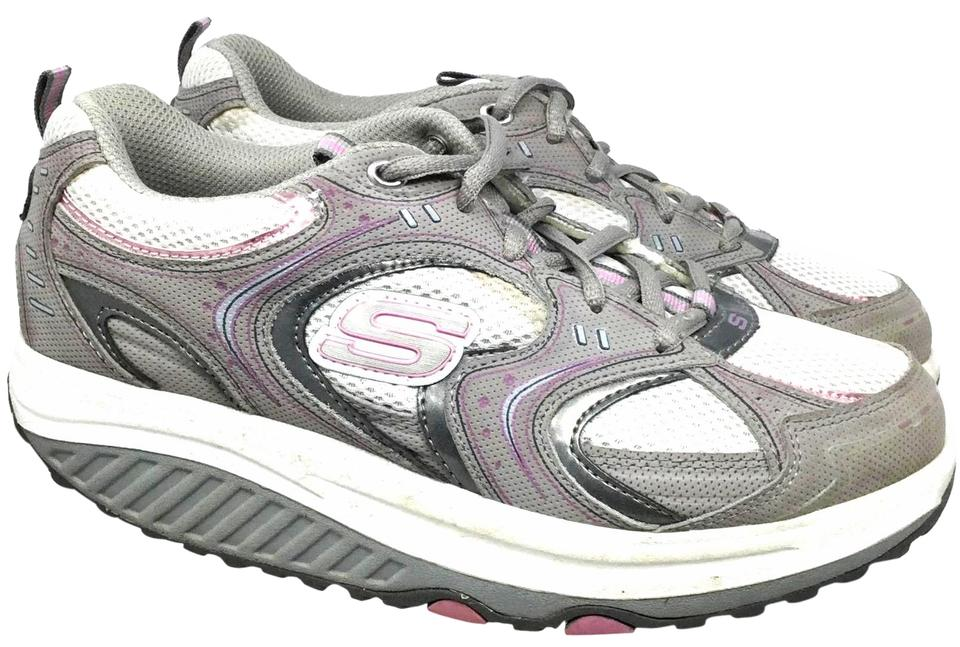 a77ccf7c592db1 Skechers Gray Pink Shape Ups Women s 6.5 Eur 36.5 Sneakers Size US ...