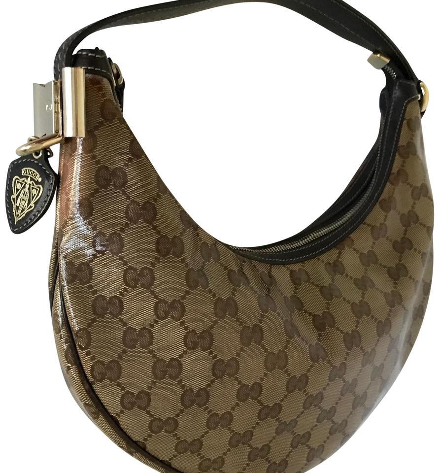 1b7eb61fb Gucci Coated Canvas Duchessa Beige/ Brown Leather Hobo Bag - Tradesy