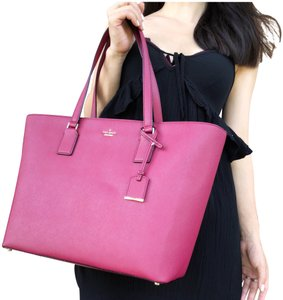 Kate Spade Cameron Street Leather Tote in Burgundy Red