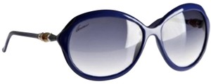 Gucci Blue Bamboo & Gold Sided Oversized Sunnies