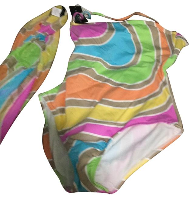 Item - Multicolor Syc Mesh Pareo And One-piece Bathing Suit Size 16 (XL, Plus 0x)
