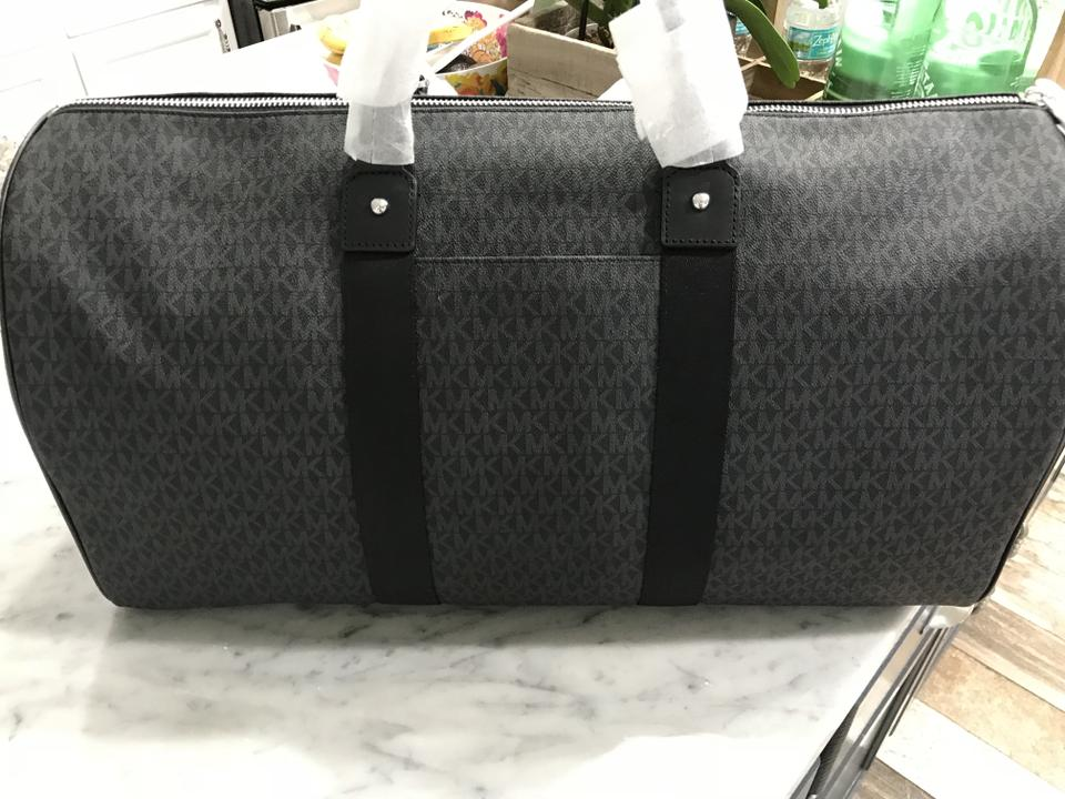 05c53647d331 Michael Kors Jet Set Carryall Duffle Duffel Black Pvc   Leather  Weekend Travel Bag - Tradesy