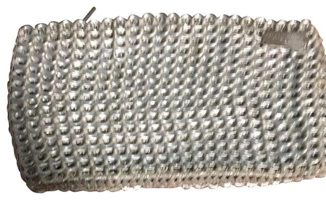 Beige and Silver Metal Clutch Beige and Silver Metal Clutch Image 1