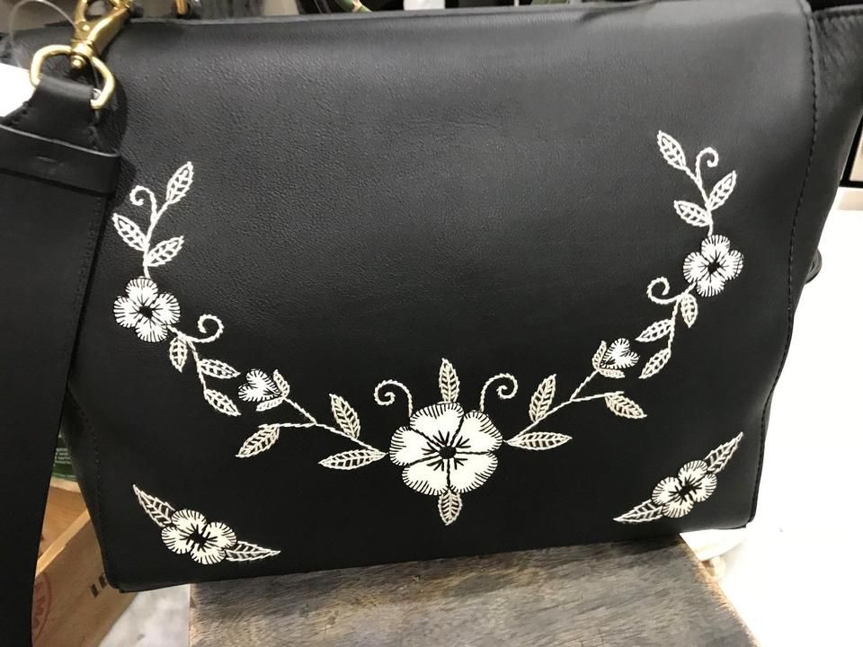 Ralph Lauren Collection Nappa Tiffin 33 Flower Embroidered Tote ... 276333e1200c5