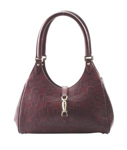 Gucci Leather Satchel in Burgundy