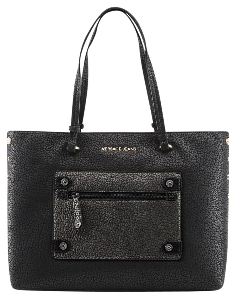 c20f21330b45 Versace Jeans Collection New Purse Faux Black Synthetic Leather ...