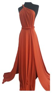 orange Maxi Dress by Abyss by Abby Maxi Full Length