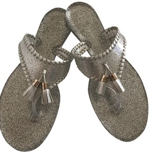 Jack Rogers Clear/Silver Sandals