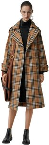 Burberry Vintage Check Cotton Plaid Trench Coat