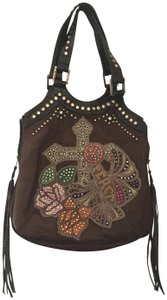 Kippys Swarovski Crystals Genuine Leather Shoulder Bag