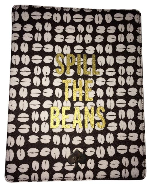 Item - Brown / White / Gold Color 'coffee Beans' Ipad 2 and 3 Folio Hardcase Tech Accessory