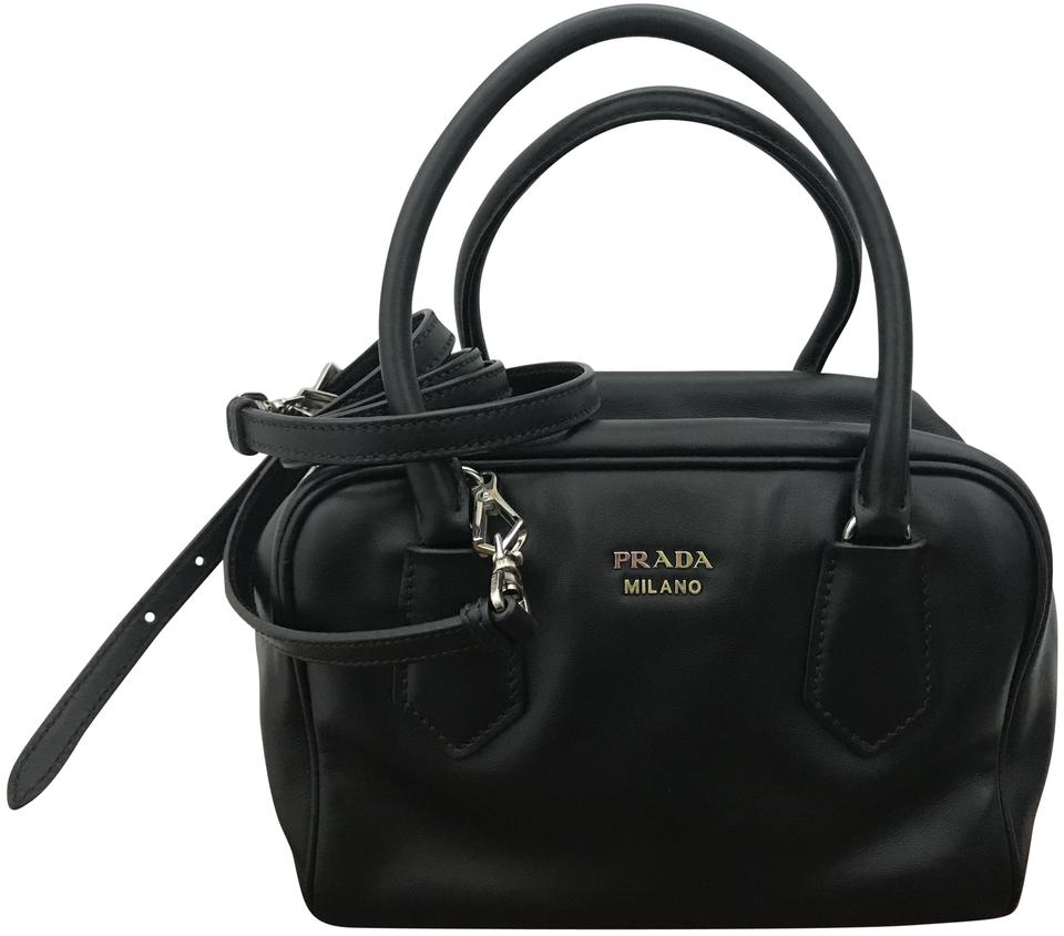 5cd197abc901 Prada Inside Pink Crossbody Leather Satchel in Black/Mughetto Image 0 ...