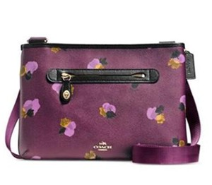 Coach Taylor Crossbody Floral Plum Purple Messenger Bag