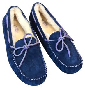UGG Australia Navy with Purple Detail Mules