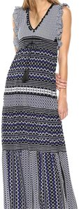 Navy blue and white Maxi Dress by Taylor