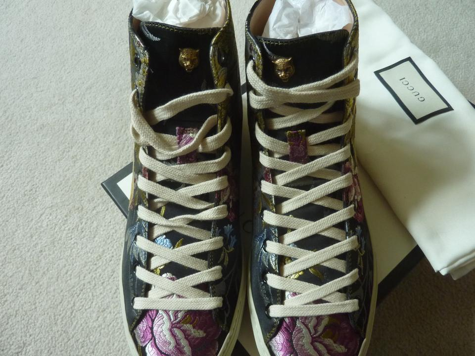 b93ca13022bd Gucci Multicolor Lady Major  blind For Love  Rose-print High-top ...