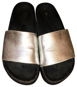 Pull&Bear Silver Sandals