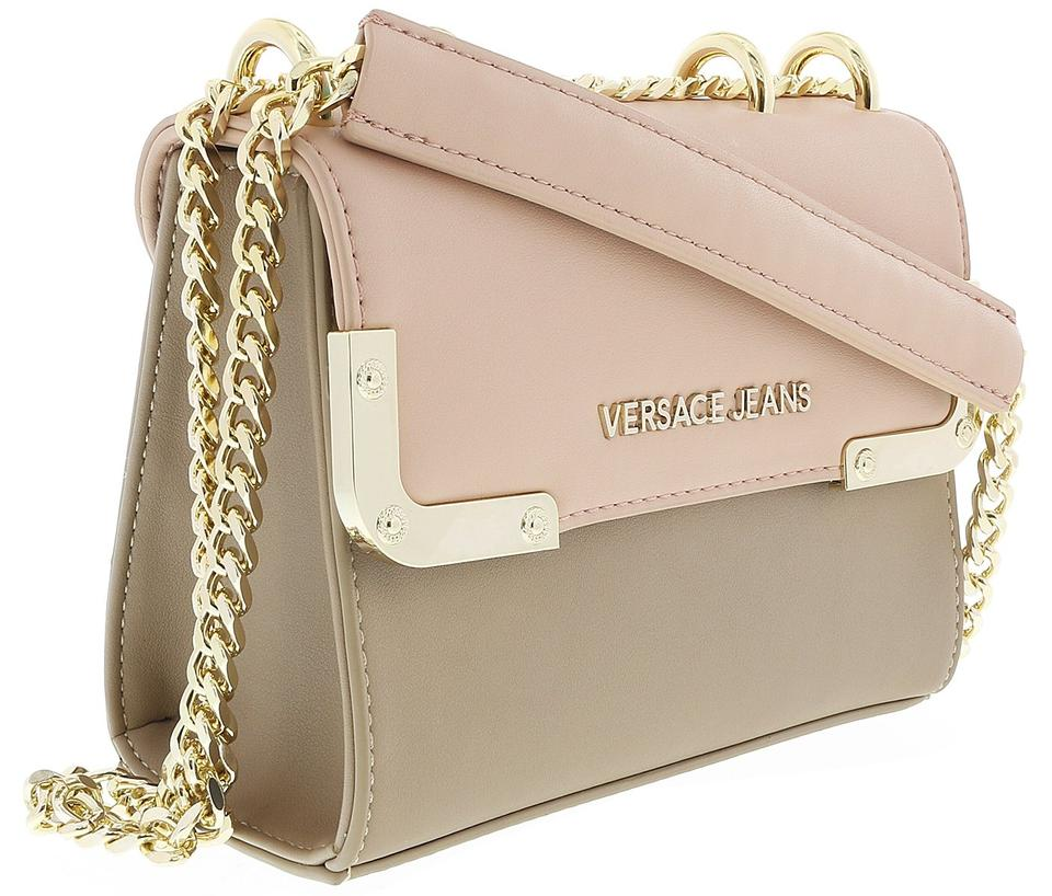 Versace Jeans Collection Light Brown Powder Pink Synthetic Leather ... 62cd34364058a