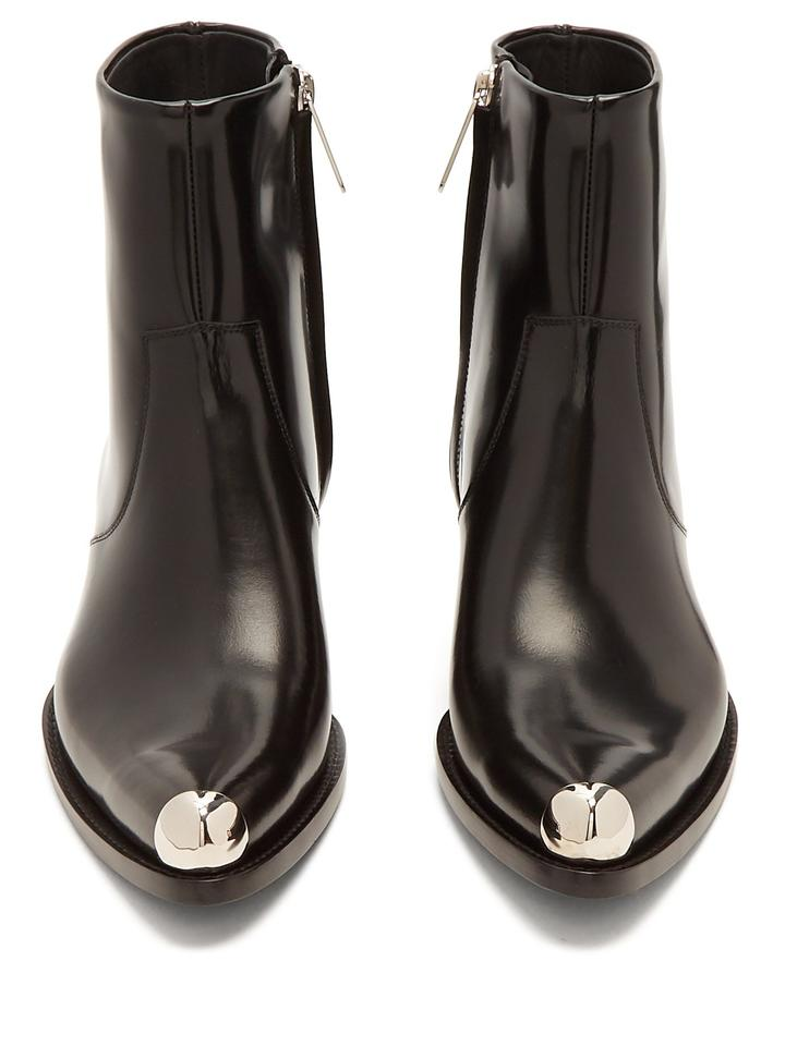 706f00c4be9 Calvin Klein 205W39NYC Black Tex Chiara Ss18 Runway Leather Ankle  Boots/Booties Size EU 38 (Approx. US 8) Regular (M, B) 51% off retail