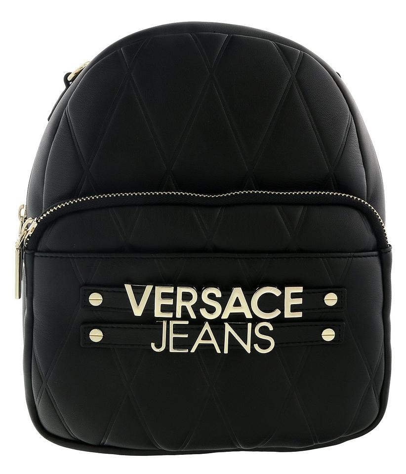 ca13054aa11a Versace Jeans Collection Black Faux Leather Backpack - Tradesy