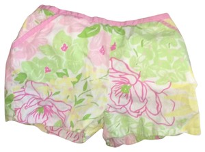 Lilly Pulitzer Mini/Short Shorts multi w baby pink waist border