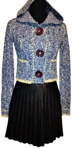 Free People Hooded 3 Large Buttons Cardigan Sweater