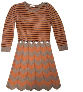 See by Chloé short dress Brown/Orange on Tradesy