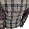 Raw 7 Skull Menswear Plaid Jacket brown Blazer