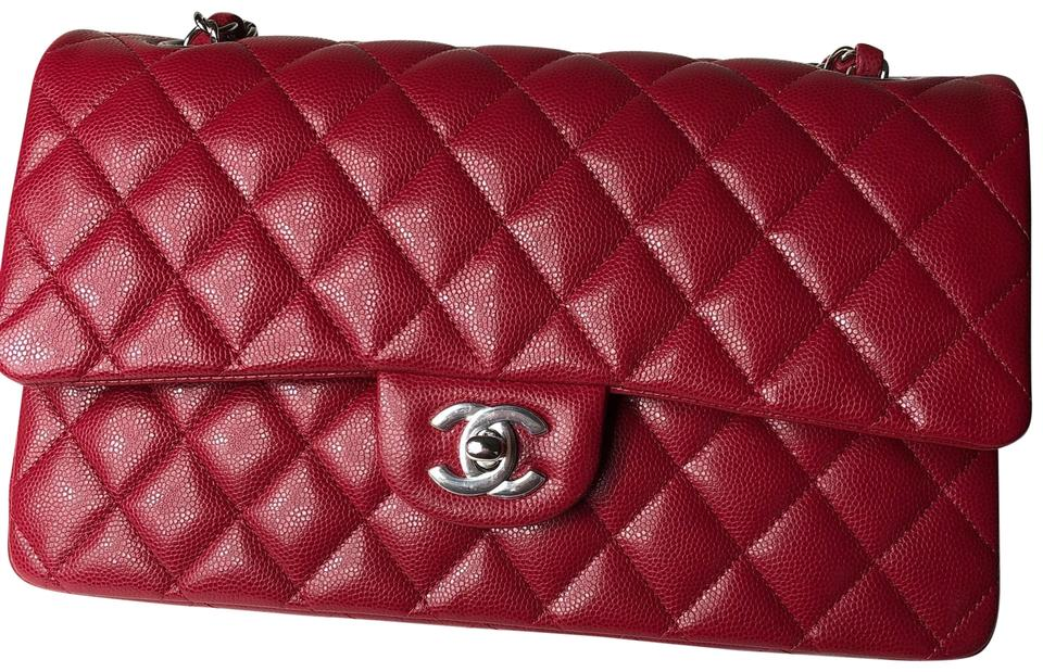 7c7a40b0bad6 Chanel Classic Flap 18b 2018 Classic Quilted Double Pink/Raspberry ...