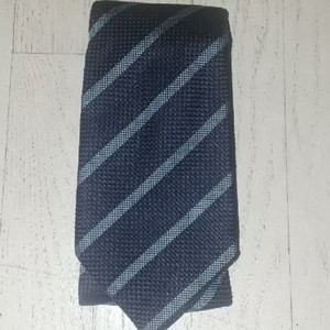 Thomas Pink Silk Jacquard Navy/ Light Blue Striped Nwot Tie/Bowtie