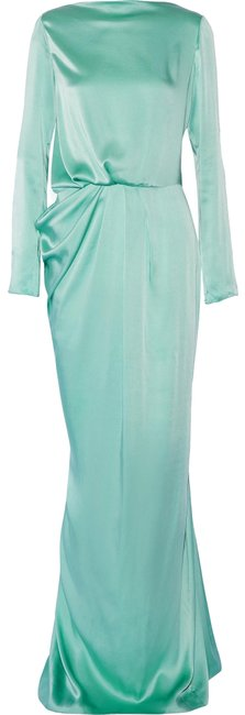 Item - Green Backless Silk Gown Long Formal Dress Size 2 (XS)