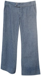 Flying Tomato Low Rise Wash Sexy Trouser/Wide Leg Jeans-Dark Rinse
