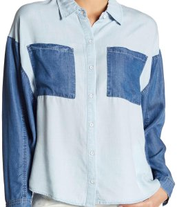 William Rast Button Down Shirt Blue
