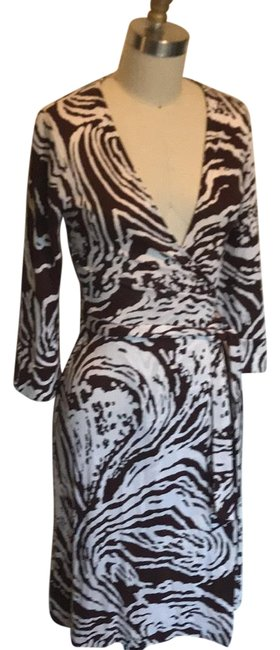 Item - Brown and Cream Julian Mid-length Casual Maxi Dress Size 2 (XS)