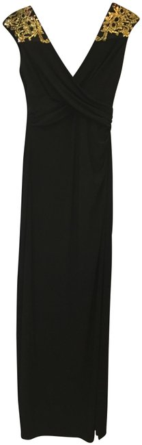 Item - Black and Gold Long Formal Dress Size 8 (M)