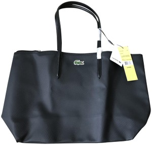 Lacoste Red Large Tote in Black