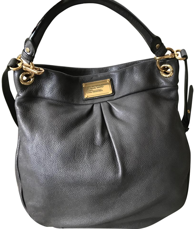 c71278a570 Marc by Marc Jacobs Classic -q Hillier Dark Grey Leather Hobo Bag ...