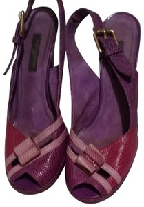 Louis Vuitton fushia/ pink/purple Platforms