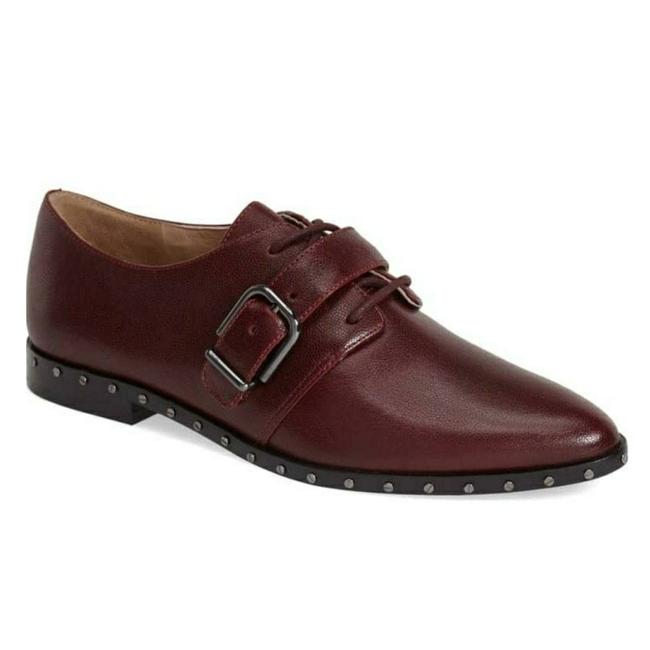 Via Spiga Burgundy V-ladonna Loafer Flats Size US 7.5 Regular (M, B) Via Spiga Burgundy V-ladonna Loafer Flats Size US 7.5 Regular (M, B) Image 1