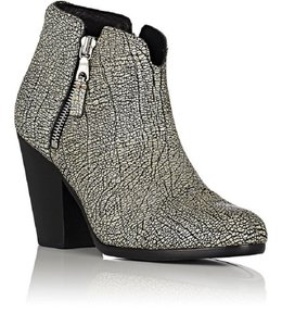 Rag & Bone Black And White Comfortable Fall Textured Iron Boots