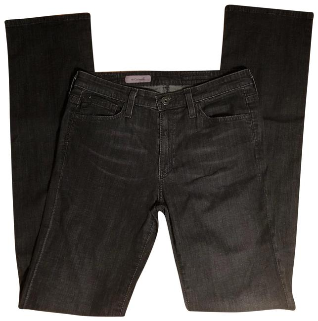 """AG Adriano Goldschmied Black Dark Rinse 27r-ag Wash Jeans-32"""" Inseam Straight Leg Jeans Size 4 (S, 27) AG Adriano Goldschmied Black Dark Rinse 27r-ag Wash Jeans-32"""" Inseam Straight Leg Jeans Size 4 (S, 27) Image 1"""