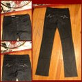 """AG Adriano Goldschmied Black Dark Rinse 27r-ag Wash Jeans-32"""" Inseam Straight Leg Jeans Size 4 (S, 27) AG Adriano Goldschmied Black Dark Rinse 27r-ag Wash Jeans-32"""" Inseam Straight Leg Jeans Size 4 (S, 27) Image 4"""