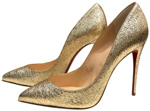 Christian Louboutin Pigalle Follies Pigalle Specchio Platine Gold Metallic Pumps