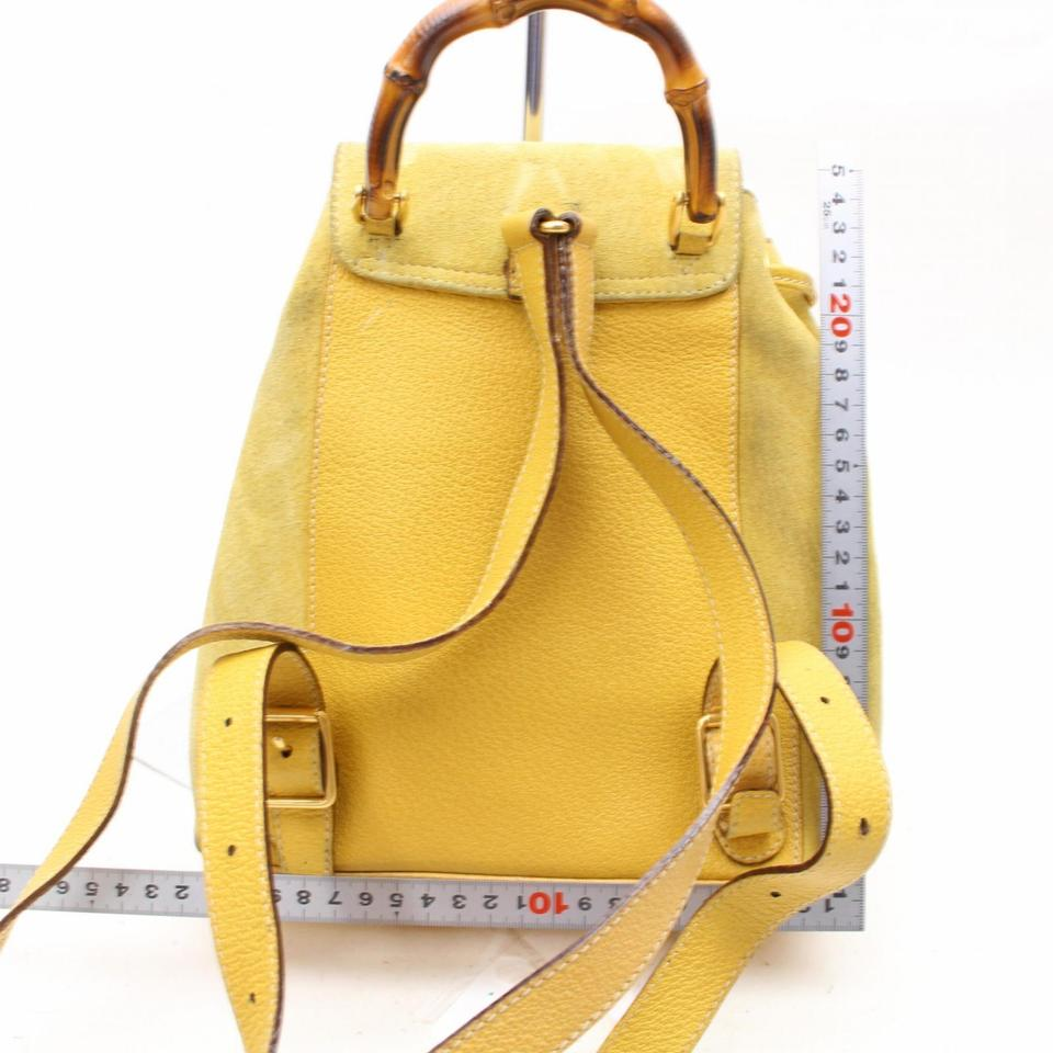 Gucci Bamboo 867509 Yellow Suede Leather Backpack - Tradesy 9009a41d950a5