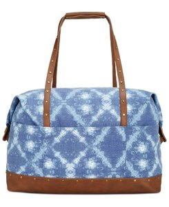 Style & Co Duffle Satchel Blue Tie Dye Travel Bag
