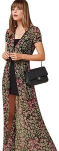 Black and Floral Print Maxi Dress by Reformation