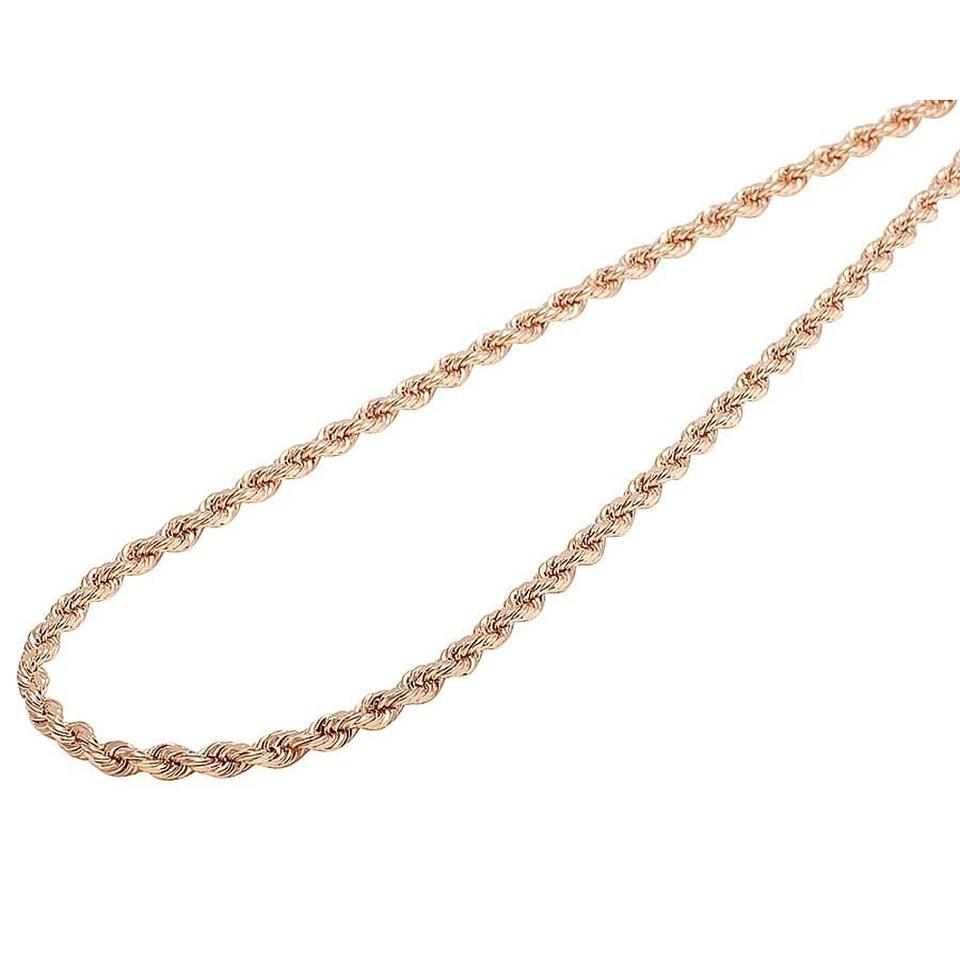 6256cc85663b6 Rose 10k Solid Gold Chain 6mm 26 Inch Necklace 64% off retail